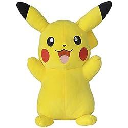Bandai–Peluche 30cm Pikachu, 81229