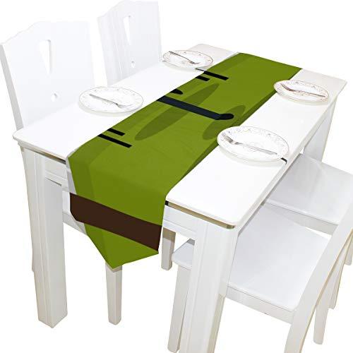 Kommode Schal Tuch Abdeckung Tischläufer Tischdecke Tischset Küche Esszimmer Wohnzimmer Hause Hochzeitsbankett Decor Indoor 13x90 Zoll ()