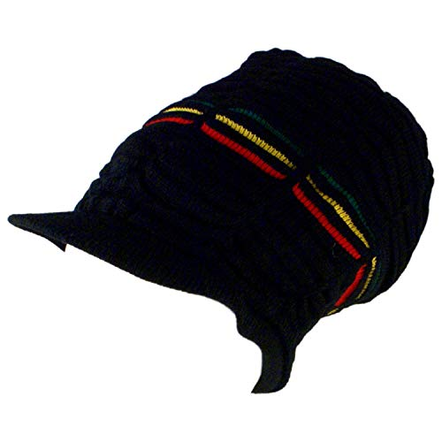 Shoe String King Men's Rasta Dread Knit Tam Hat