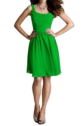 Ivydressing Damen Traeger Kurz Chiffon Brautbegleiterinkleid Festkelid Abendkleider Grün
