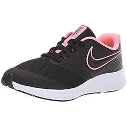 Nike Star Runner 2 (GS), Zapatillas de Running para Asfalto Unisex Niños, Multicolor (Black/Sunset Pulse/Black/White 002), 36.5 EU
