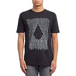 Volcom Wiggly BSC SS Camiseta, Hombre, Negro, L