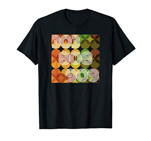 Synthesizer T-shirt 303 808 909. T Shirt für Analog Fans