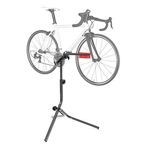 WilTec Soporte reparación Bici Caballete Montaje Bicicleta hasta 30kg Taller Profesionales Hobby Ciclismo...