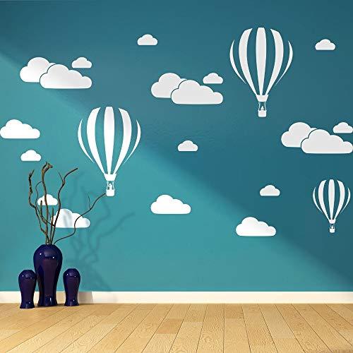 yuandp Wolke Helium Ballon Wandaufkleber Für Kinderzimmer Vinyl Wohnkultur Kinderzimmer Dekoration Schlafzimmer DIY Removable Cartoo 57 * 41 cm