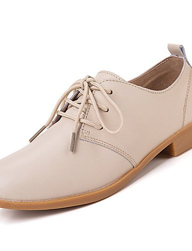 ZQ Scarpe Donna-Stringate-Casual-Comoda-Piatto-Di pelle-Nero / Blu / Marrone / Rosa / Bianco / Beige , blue-us5.5 / eu36 / uk3.5 / cn35 , blue-us5.5 / eu36 / uk3.5 / cn35 brown-us5.5 / eu36 / uk3.5 / cn35