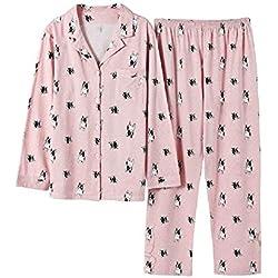 Pijama de cuello en V con perros