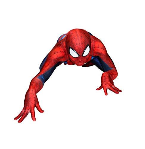 ASPIDER 3D Muskel Spiderman Kostüm Cosplay Siamesische All-Inclusive Strumpfhosen Kostüme (Farbe : Blau, größe : M)