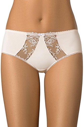 Gaia 581S Liza Shorts Damen Unterhosen Dessous Stickerei Gemustert Hocher Bund Setteil Top Qualität EU Beige