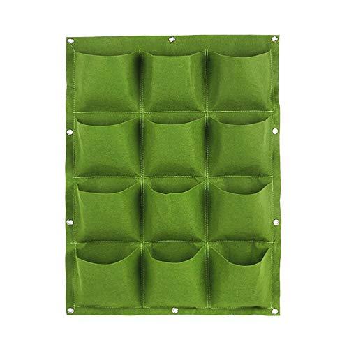 Peanutaoc Tasche Wandmontage Vlies Filz Pflanzsack Vertikaler Garten Pflanzer Kleiderbügel Outdoor Indoor Blumen Anbau Container Töpfe (Leichte Indoor-pflanzer)