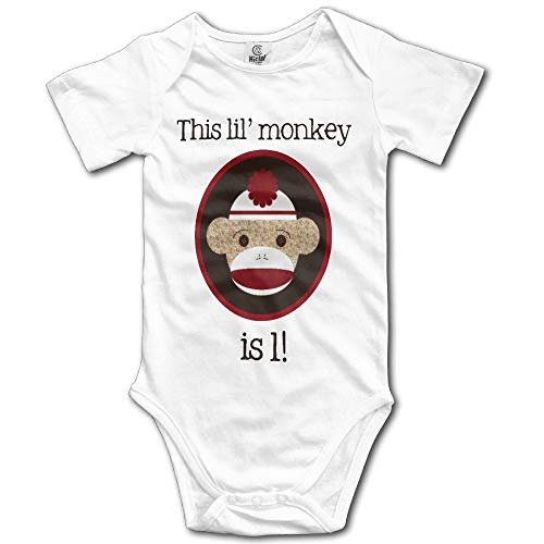 Artspower Red and Brown Sock Monkey First Birthday Kids Girls Cute Baby Onesies Outfits (Monkey Ein Sock)