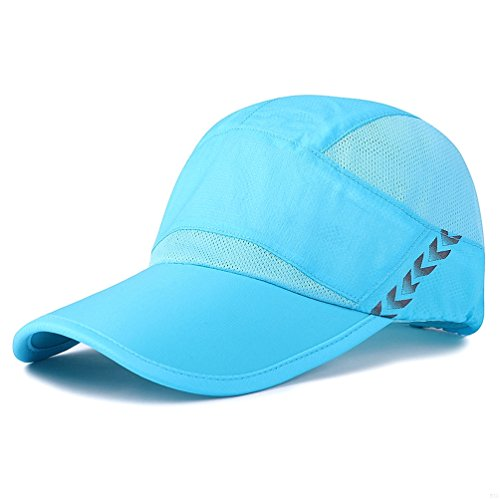 Baseball Cap Quick Dry Lightweight Running Hat Waterproof Breathable of Sun Cap Long Large Bill Sport Caps Cooling Mesh for Unisex Fashion Men and Woman Outdoor Clothes Under 10 20 Hats Sky Blue LN35 Womens Sky Blue Cap