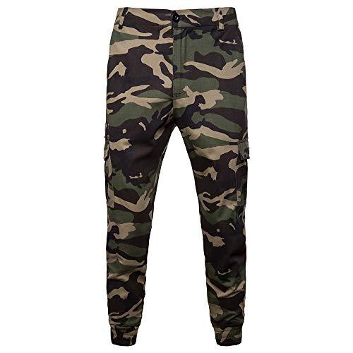 Geili Jogginghose Herren Cargo Hosen Chino Hose Camouflage Vielen Taschen Trainingshose Jogger Hose Stretch Fitnesshose Laufhose Chinohose Sweatpants Arbeitshose Trousers für Männer