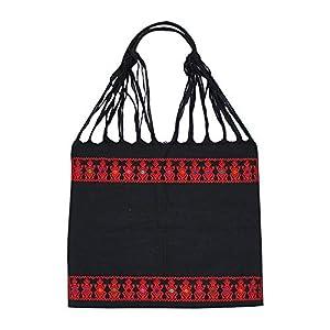Einkaufstasche Boho schwarz El Cura; Handgewebt, Handtasche, HANDARBEIT, Tasche, Geschenkidee für Frauen
