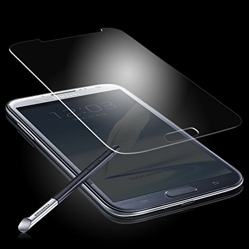 Samsung Galaxy Note 2 N7100 0.33mm Premium Tempered Glass Hartglas Explosions- & Splittersicher Screen Protector mit Microfasertuch von Gadget Giant® -