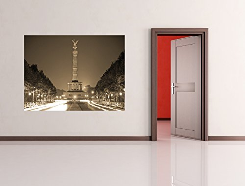 "Bilderdepot24 Fotomurale autoadesivo ""Colonna della vittoria - sephia"" 200x150 cm Herstellung Made in Germany!"