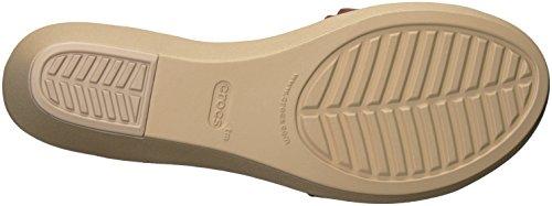 Crocs - Frauen Leigh Ann Ankle Strap Leder Plattformen haselnussbraun
