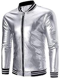 sale retailer a5c42 f808d Amazon.it: giacca uomo elegante - Argento / Giacche e ...