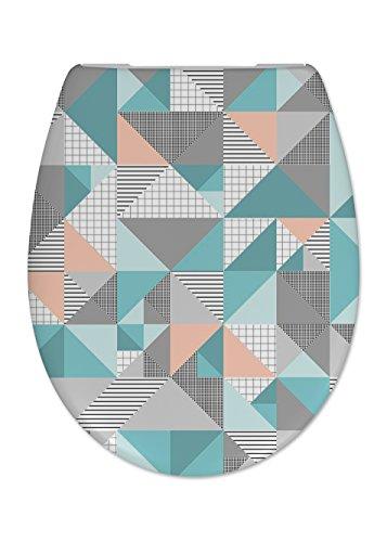 Cedo Design WC Sitz Sailor mit Absenkautomatik Softclose Classic, Abnehmbar mit Takeoff Original Abnahmefunktion; aus Duroplast für ovale Keramiken mit Befestigung von Unten