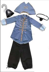 Grandes imitaciones -  disfraz de Capitán Garfio para niño (tamaño Medium) (de 4/6 años) - altura 107-122, cintura 53-61