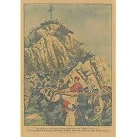 Pittoresca sagra alpina: la benedizione della croce giubilare sul Resegone.