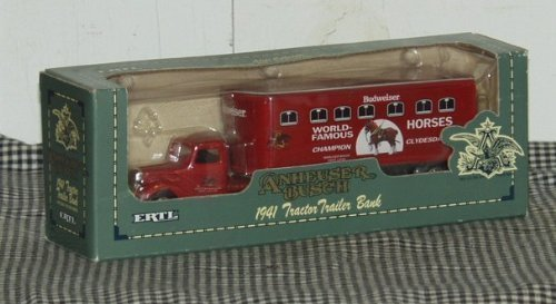 ertl-anheuser-busch-1941-tractor-trailer-bank-143-scale-die-cast-metal-locking-coin-bank-by-unknown