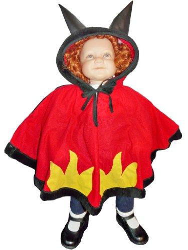 Teufelskostüm Halloween Kostüme Fasching Karneval (Vier Mädchen, Gruppe Halloween-kostüme)
