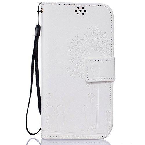 LG K7 Case,LG K7 Leather Case,LG K7 Cover,Flip Wallet case for LG K7,Cool 3D Dandelion Loves Patterned PU Leather Lanyard Stand Function Protective Cases Covers with Card Slot Holder Wallet Book Design Fordable Magnet Closure Case for LG K7