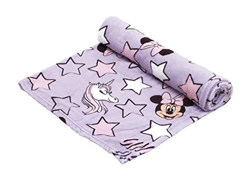 ARDITEX - Manta Polar Modelo Minnie Mouse Unicornio