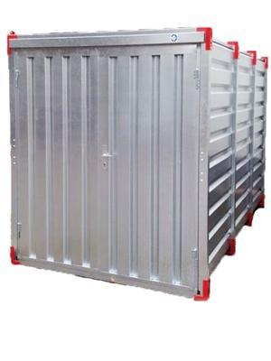 Baucontainer Garage Container Lagercontainer Gerätecontainer Werkstatt Container Materialcontainer Blechcontainer 2,25 m Außenmaße Länge x Breite x Höhe: 2250 x 2200 x 2200 mm