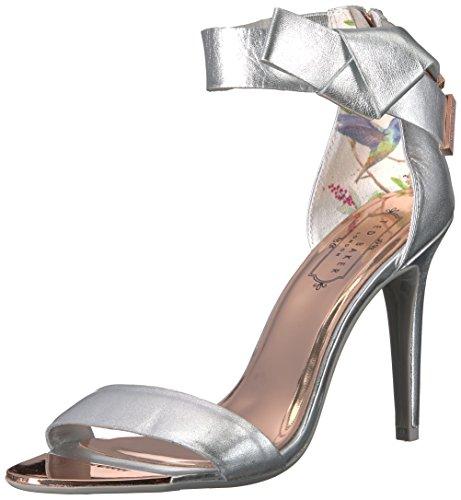 Ted Baker Women's Saphrun Sandal, Silver, 7 B(M) US Ted Baker Womens Wear