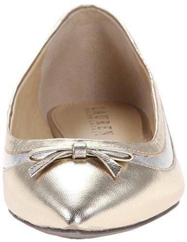 Lauren Ralph Lauren Sally Ballet Flat Platino Metallic Kidskin