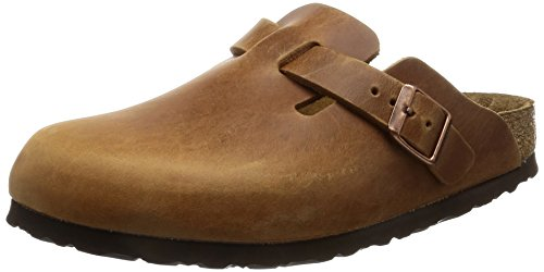 Birkenstock Boston Smooth Leather, Unisex-Adults' Clogs, Antique Brown, 8 UK (42 EU),...