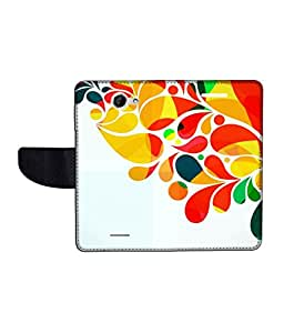 KolorEdge Printed Flip Cover For HTC Desire 516 Multicolor - (50KeMLogo11453HTC516)