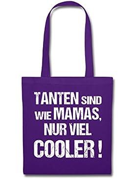 Tanten Sind Wie Mamas Nur Viel Cooler Stoffbeutel von Spreadshirt®