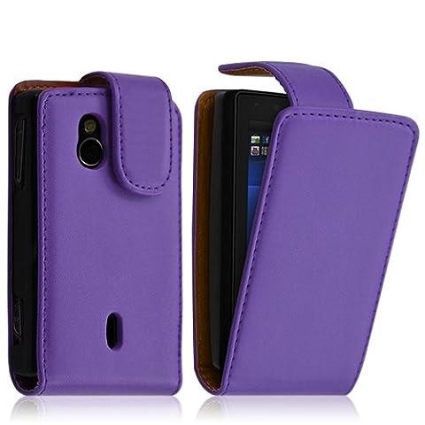 Seluxion - Housse coque etui pour Sony Ericsson Xperia Mini Pro (SK17i) couleur violet
