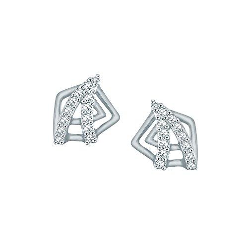 Giantti Diamant Mode Femme Boucles d'oreilles à tige (0.1854CT, VS Clarté, Gh-colour)