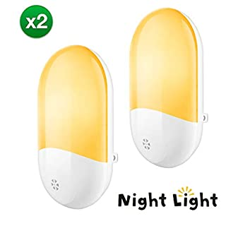 LED Night Lights Plug in Wall, LEBANDWIT Night Light for Kids, Nursery Light with Automatic Dusk till Dawn Photocell Sensor, Night Lamp Lighting, Bedside Lamp for Babyroom, Children's room, Stair, Hallway, Warm White 2 Pack
