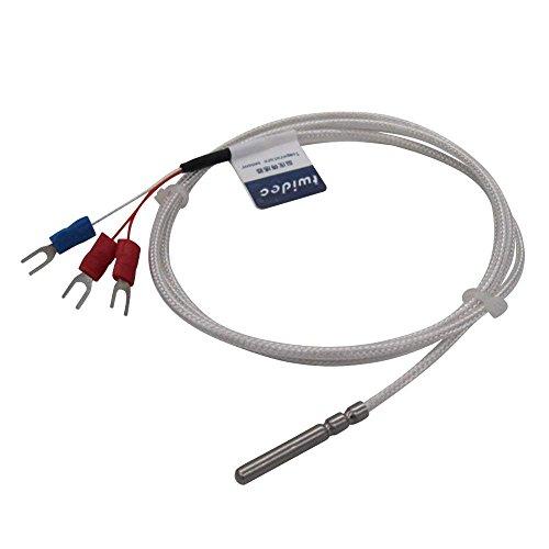 Twidec/RTD PT100 Wasserdichte Temperatursensoren, 3-Drahtsystem, Edelstahl-Sonde (4 × 30 mm) Bereich: -50 °C bis 200 °C (4 mm x 30 mm x 2 m) -