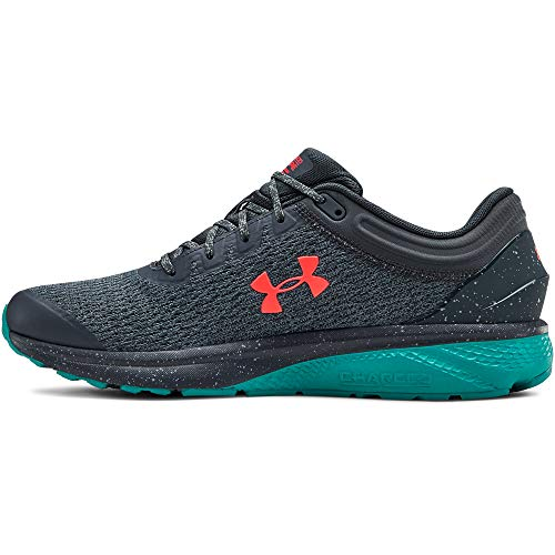 Under Armour Charged Escape 3, Scarpe Running Uomo, Grigio (Wire/Teal Rush/Beta Red 401), 44 EU