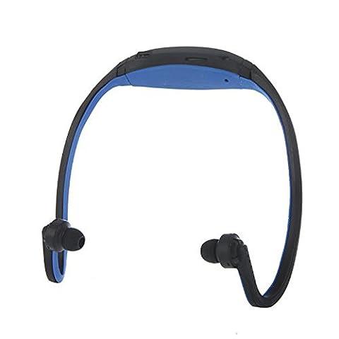 MOKE Sports Mp3 FM Stereolithographie Radio-Funktion MP3-Sport-Kopfhörer für das Laufen, Bergsteigen, das Radfahren und das Reisen MEMORY EXPANDABLE OBEN 8GB (KEINE SPEICHER- / Sd-Karte) (Mini Wrap Around Wrap)