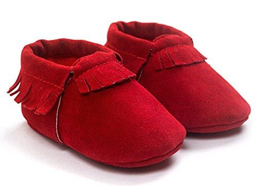 Do Único Cereja Bebê Crianças Felizes Walker Cor Jovem Presente Da Tamanho Shoes Sapatos 11 Comprimento Bebê 13cm De Sapatos Pu Couro Planície Bebê De Sapatos Criança Unisex Vermelhas Meninas Rastejando Dentro Macio Selecionável HOq754xq