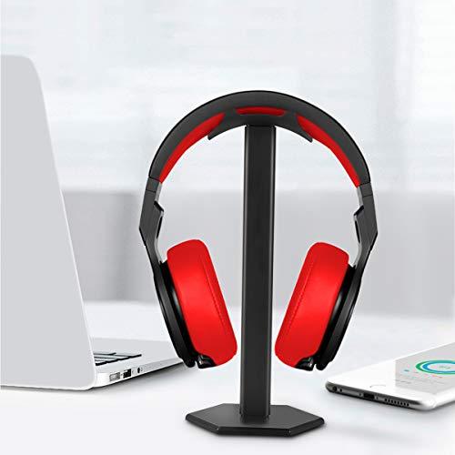 Kopfhörerständer, Minkle Universal Kopfhörerhalter für Over Ear Kopfhörer, aus Aluminium + TPU + ABS , Schwarz - 5