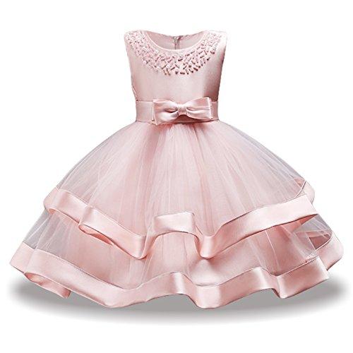 LZH Mädchen Kleid Hochzeit Festzug Besondere Prinzessin Party Abendkleid Brautjungfer Kleider