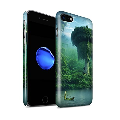 Officiel Elena Dudina Coque / Clipser Brillant Etui pour Apple iPhone 8 / Endroit Calme Design / Fantaisie Paysage Collection Endroit Calme