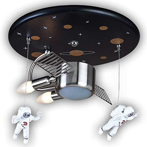 Deco Cfl (VJFKF JPVGIA Deckenleuchte Astronaut Spaceman Kunststoff Metall Moderne Hängelampe, Kinder Lampe Pendelleuchte Innendecke Dekorative Mädchen Jungen Kinderzimmer Schlafzimmer Lampe)