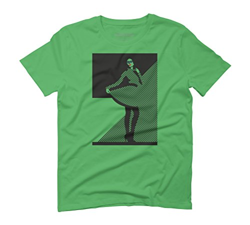 Fashion Men's Graphic T-Shirt - Design By Humans Green