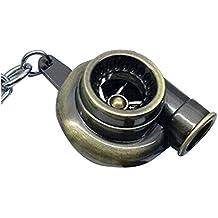 Llavero de turbocompresor - TOOGOO(R)Llavero de turbocompresor de manga de cojinete de girar de oro de modelos de partes de coche de color de bronce