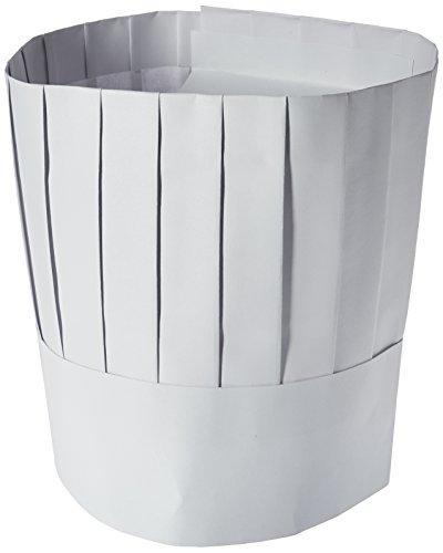 Winco Kochmütze, Einweg, 22,9 cm, 10 Stück