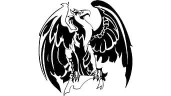 Batman eagles , eagle autocollant - 50cm Hauteur - 50cm Largeur - noir vinyle